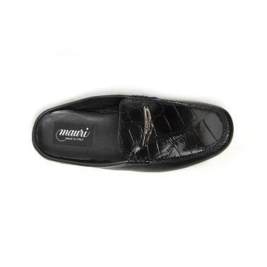 Mauri Messere 3136 Crocodile & Nappa Loafers Black (Special Order) Image