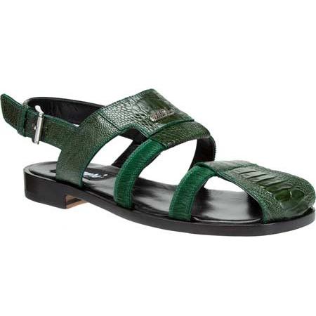 Mauri Miraggio 1620 Ostrich Leg Sandals Green (Special Order) Image