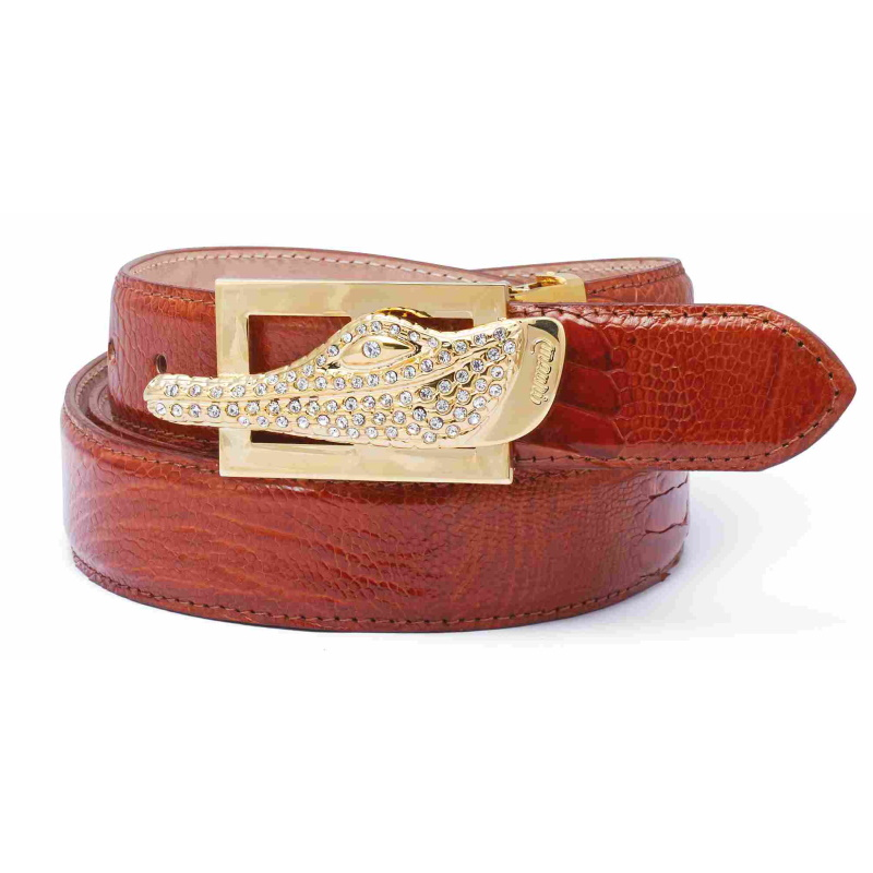 Mauri Ostrich Leg Belts Brown Image