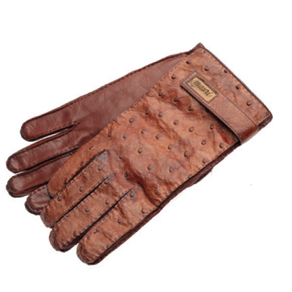 Mauri Ostrich Quill Gloves Gold (Special Order) Image