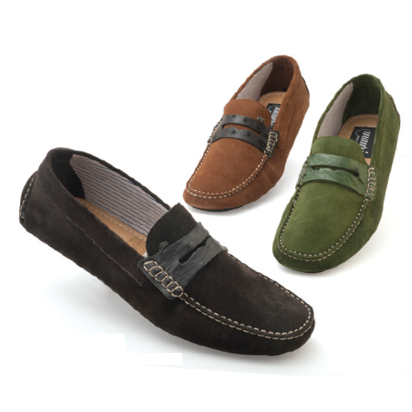 Mauri Palio 9247 Ostrich & Suede Driving Shoes (Special Order) Image
