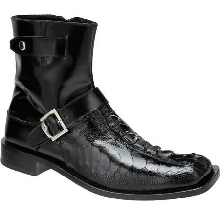 Mauri Park Lane 4581 Ostrich & Hornback Boots Black (Special Order) Image