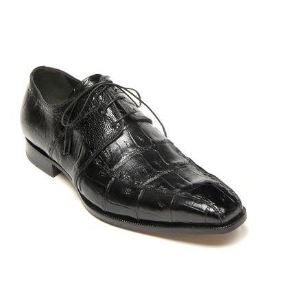 Mauri Portico 4680 Crocodile & Ostrich Shoes Black (Special Order) Image