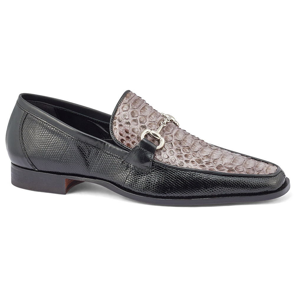 Mauri Priest 4800/2 Iguana & Python Loafers Black / Med Grey Image
