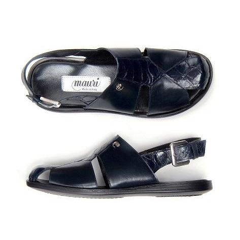 Mauri Renzo 1787 Alligator & Calfskin Sandals Blue (Special Order) Image