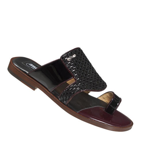 Mauri Rovere 1943 Patent Leather Sandals Black (Special Order) Image
