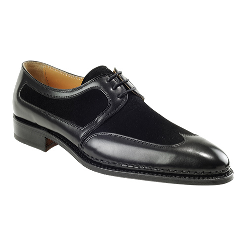 Mauri 3001 Nappa & Suede Wing Tip Shoes Black (Special Order) Image
