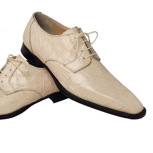 Mauri 4362 Alligator Shoes Cream (Special Order) Image