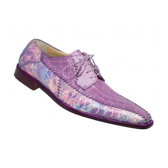 Mauri 4381 Crocodile/Ostrich Shoes Fuschia/Amethyst (Special Order) Image