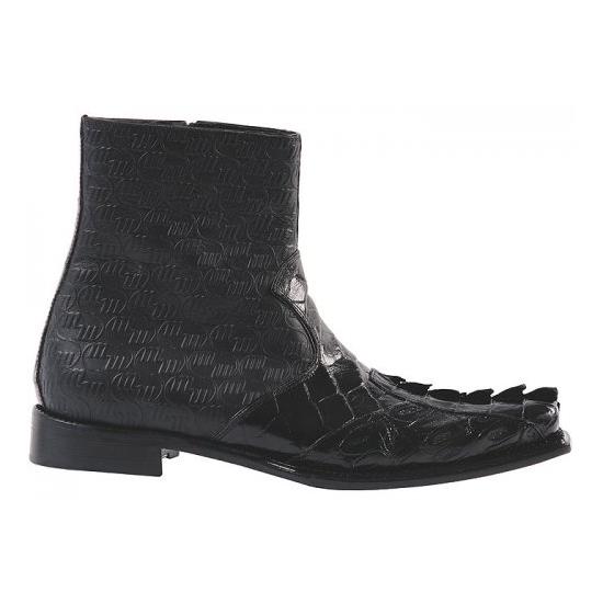 Mauri 44167 Nappa/Crocodile Boots Black (Special Order) Image