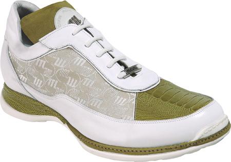 Mauri 8691 Mania Crocodile & Nappa Sneakers Apple Green (Special Order) Image