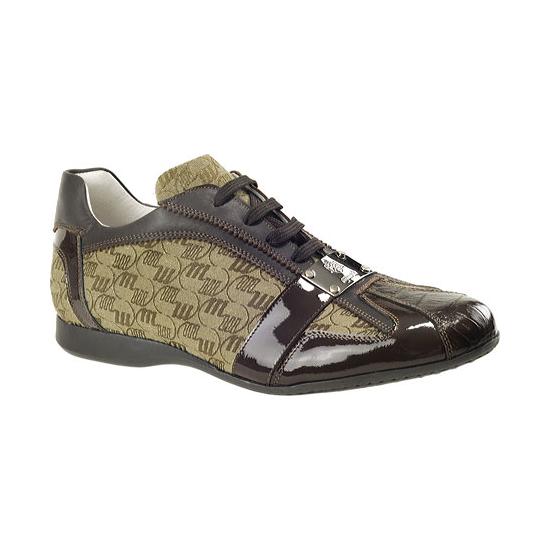 Mauri 8840 Nappa Amp Crocodile Sneakers Brown