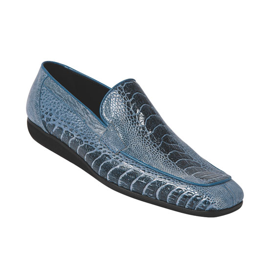 Mauri 9211 Ostrich Loafers Blue (Special Order) Image