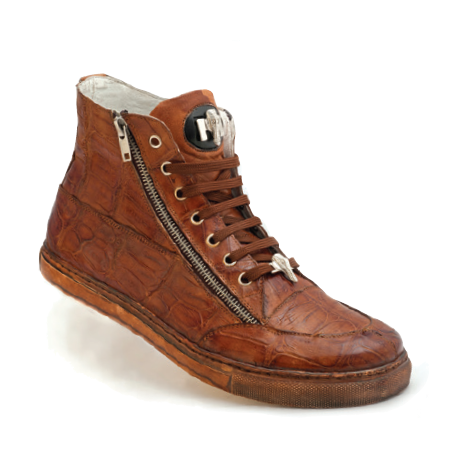 Mauri Siena 8664 Alligator High Top Sneakers Brandy (Special Order) Image