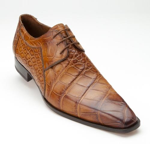 Mauri 1085 Sipario Alligator Derby Shoes Brandy (Special Order) Image
