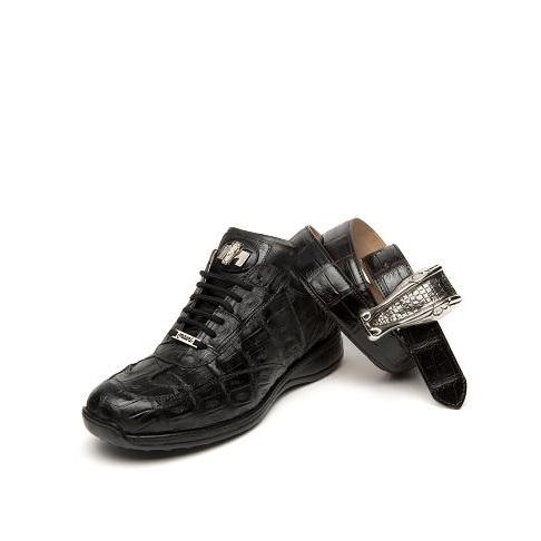 Mauri Swamp 8690 Baby Crocodile Sneakers Black (Special Order) Image