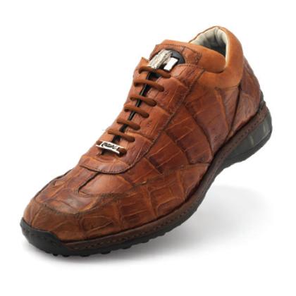 Mauri Swamp 8690 Crocodile Sneakers Cognac (Special Order) Image