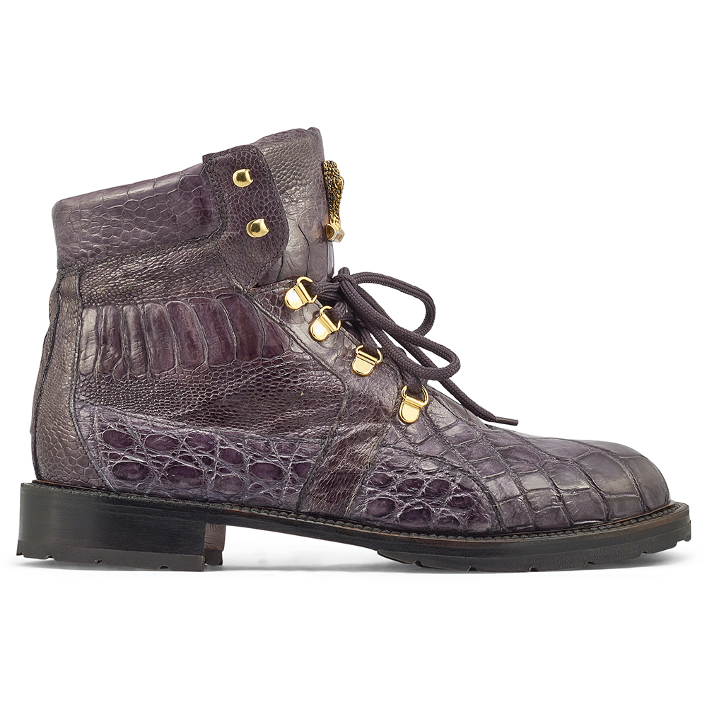 Mauri Tracker 4986 Body Alligator & Ostrich Leg Boots Med Grey Image