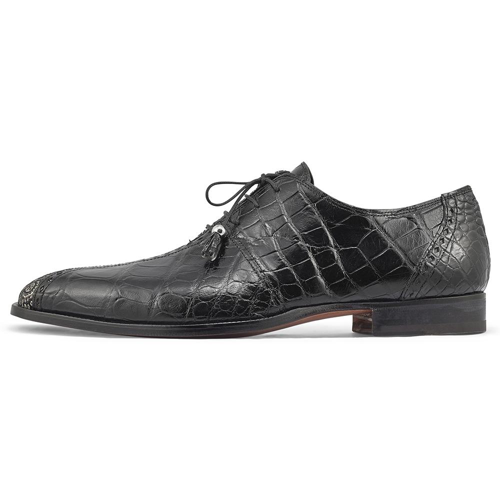 Mauri Two Face 4975/2 Body Alligator & Matahari Fabric Shoes Black / White Image