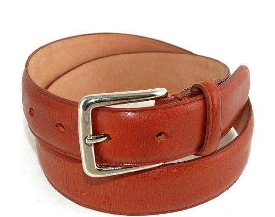 Bespoke England Men S Leather Belt Chestnut
