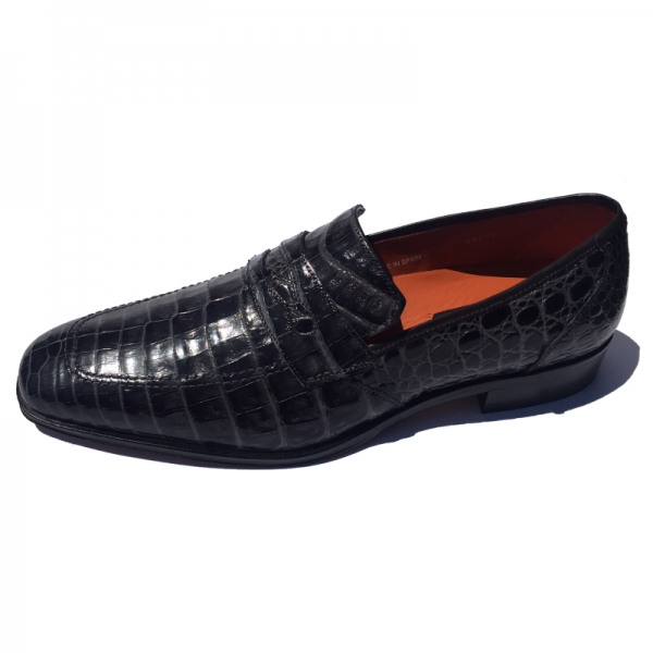 Mezlan 4226-F Crocodile Loafers Gray Image