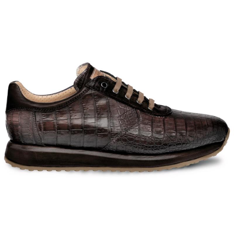 Mezlan Hannibal 4656F Caiman Crocodile Sneakers Taupe / Brown Image