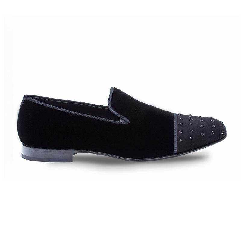Mezlan Abel Velvet / Suede Shoes Black Image