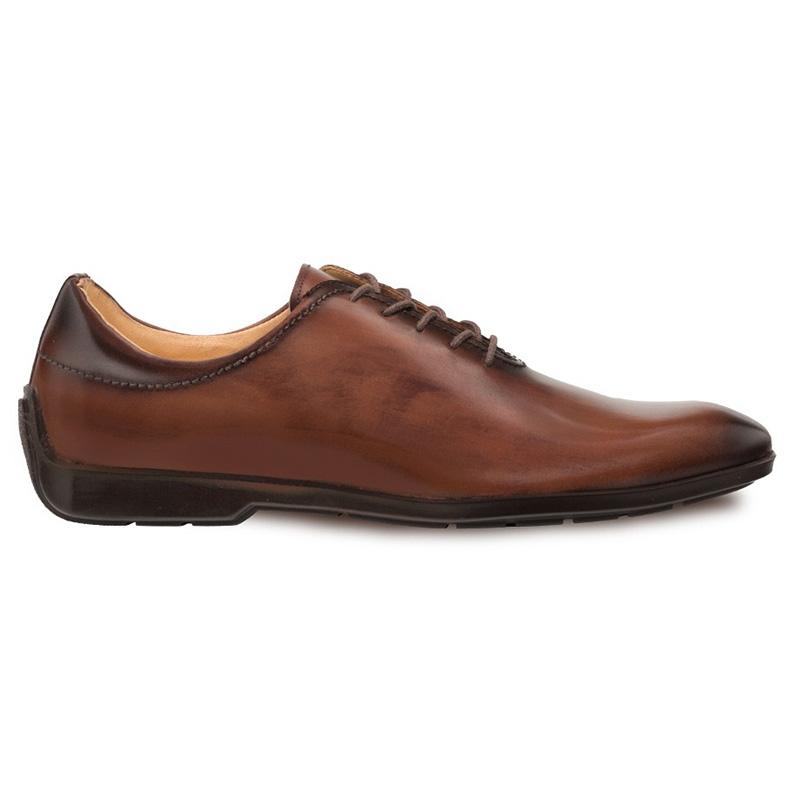 Mezlan Achilles Calfskin Lace-up Shoes Brown Image