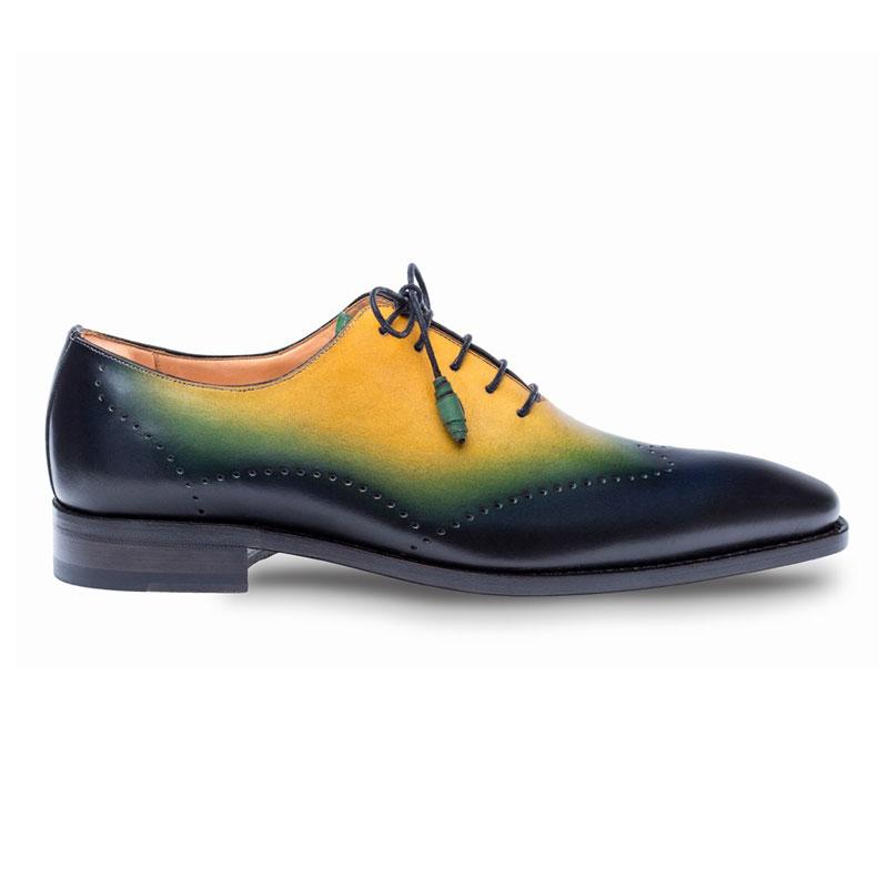 Mezlan Addy Oxford Shoes Blue Multi Image