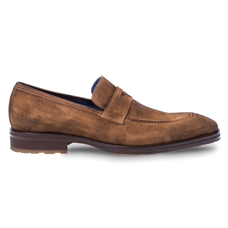 Mezlan Alberini Suede Slip On Shoes Cognac Image