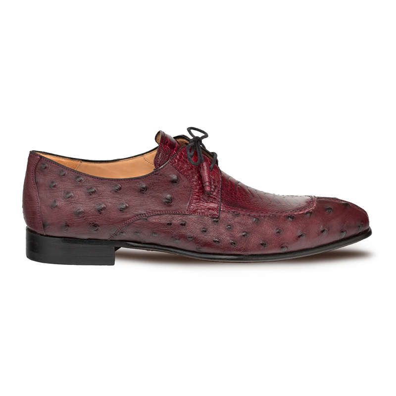 Mezlan Amadeus Ostrich Shoes Burgundy Image