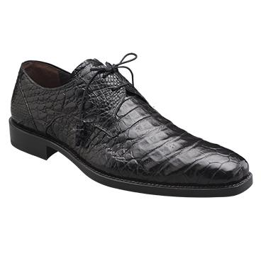 Mezlan Anderson Crocodile Derby Shoes Black Image