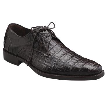 Mezlan Anderson Crocodile Derby Shoes Dark Brown Image