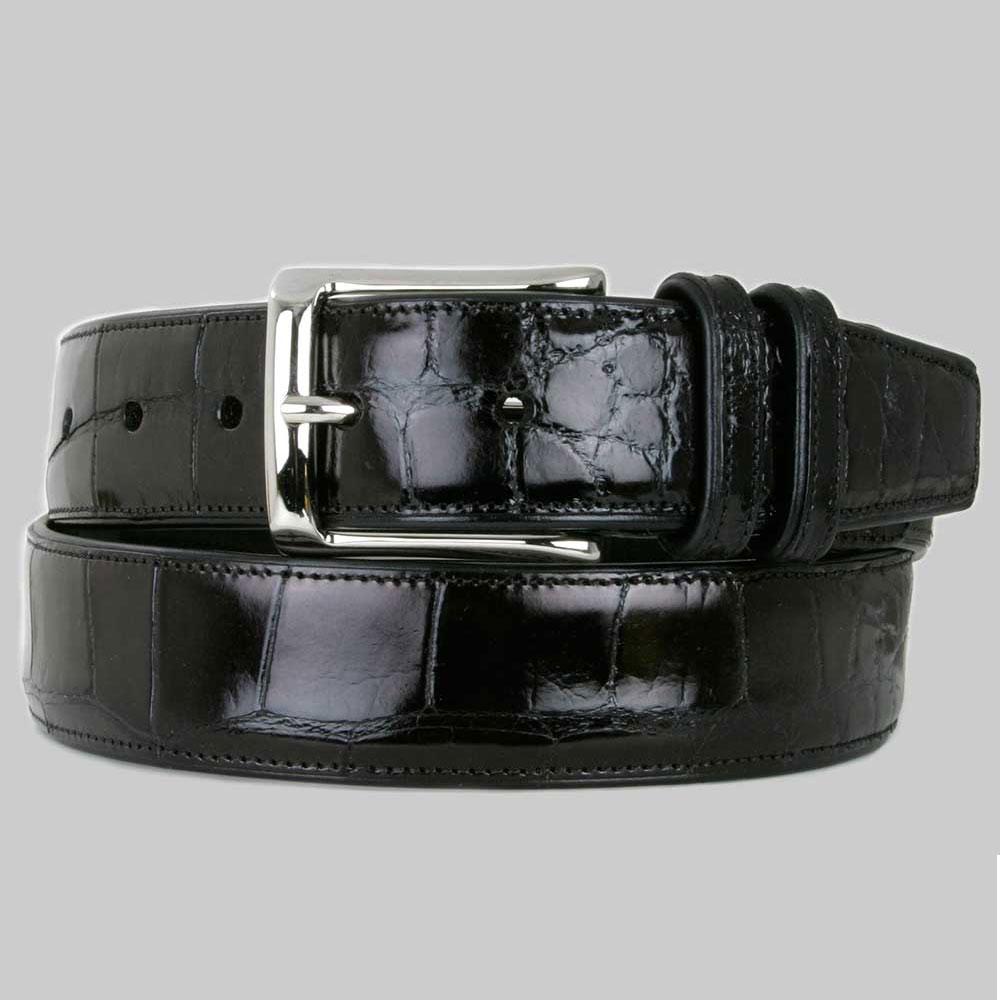 Mezlan AO7907 Alligator Belt Black Image