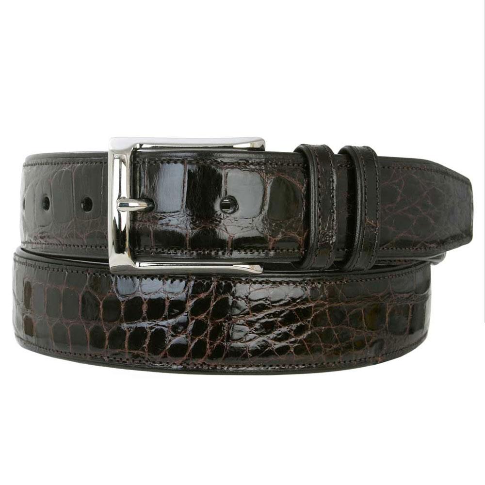 Mezlan AO7907 Alligator Belt Dark Brown Image