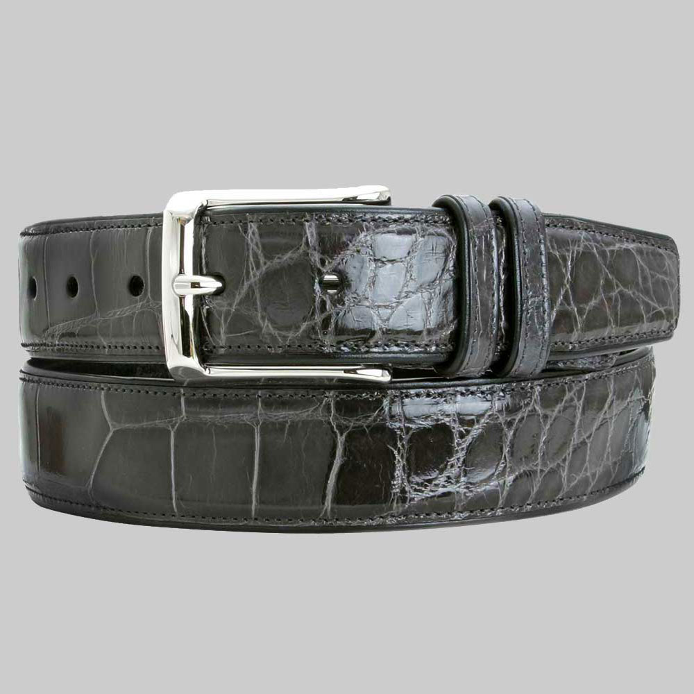 Mezlan AO7907 Alligator Belt Grey Image
