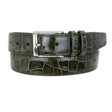 Mezlan AO7907 Genuine Alligator Belt Olive Image