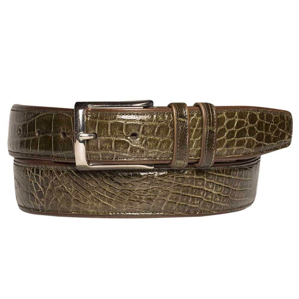 Mezlan AO7907 Alligator Belt Olive Image