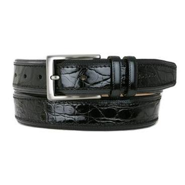 Mezlan AO8597C Genuine Crocodile Belt Black Image
