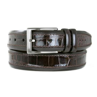 Mezlan AO8597C Genuine Crocodile Belt Brown Image