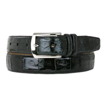 Mezlan AO8603 Genuine Crocodile Belt Black Image