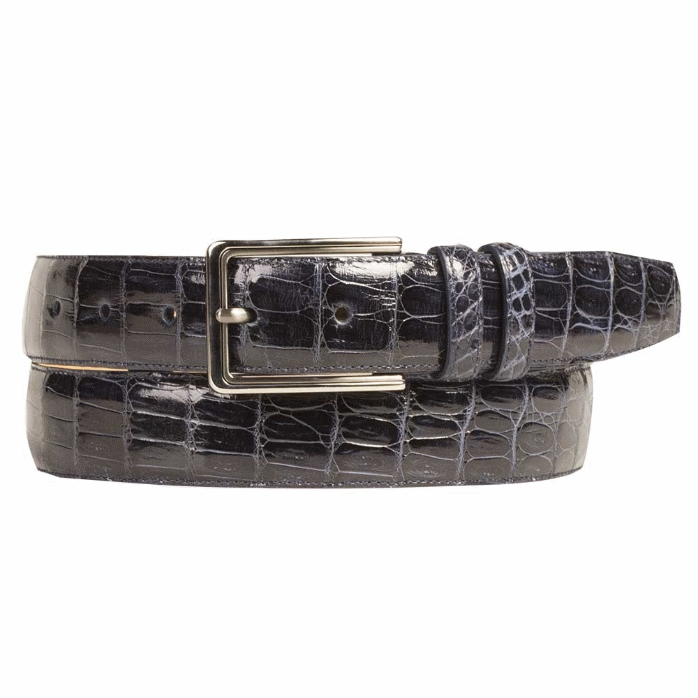 Mezlan AO8603 Genuine Crocodile Belt Blue Image