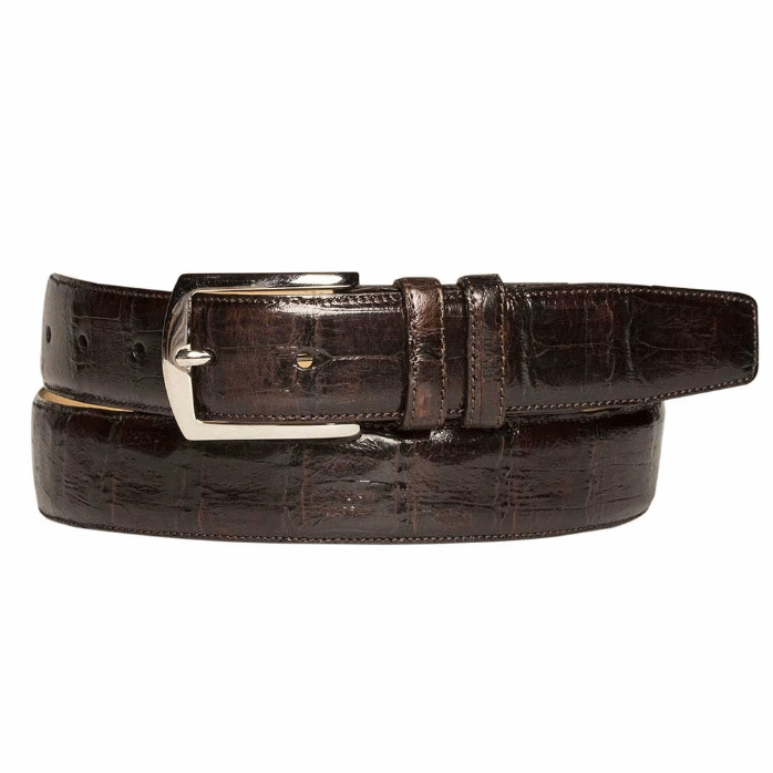 Mezlan AO8603 Genuine Crocodile Belt Brown Image