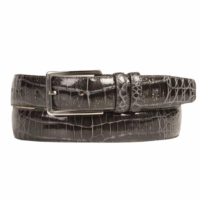 Mezlan AO8603 Genuine Crocodile Belt Gray Image