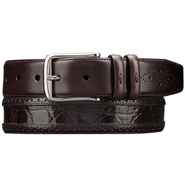 Mezlan AO9654 Genuine Crocodile  & Calfskin Belt Brown Image