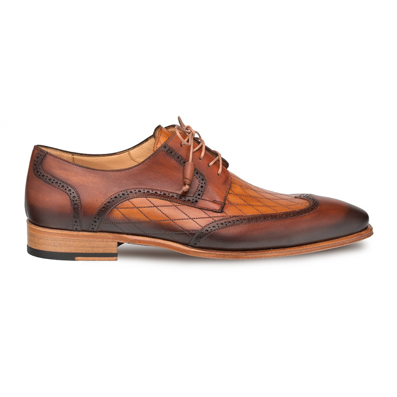 Mezlan Argento Wing Tip Blucher Cognac/Honey Image