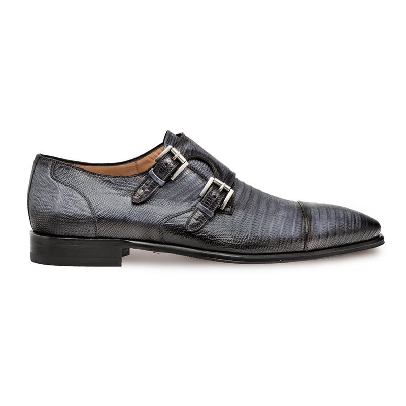 Mezlan Argentum Double Monk Strap Shoes Grey Image