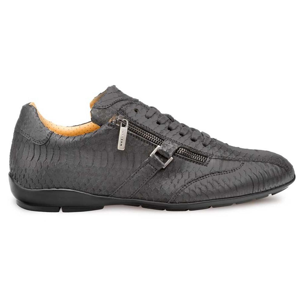 Mezlan Asahi Snake Skin Sneakers Black Image
