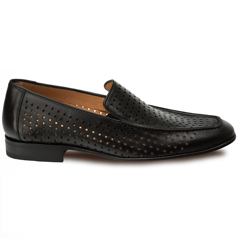 Mezlan Astori Perforated Loafers Black Image