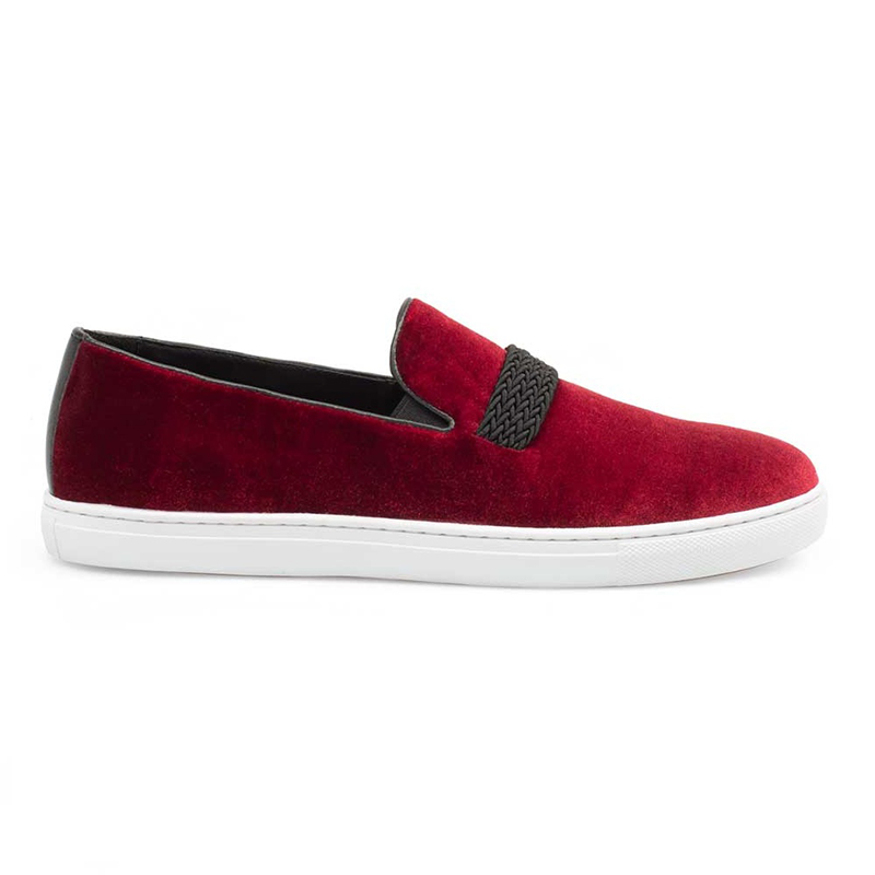 Mezlan Azure Slip On Sneakers Burgundy Image
